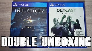 DOUBLE UNBOXING - INJUSTICE 2 AND OUTLAST TRINITY!
