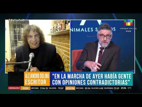 {alttext(,Alejandro Dolina le tapo la boca a Luis Novaresio por el #17A)}