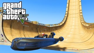 GTA 5 PC Mods - STAR WARS SPEEDER STUNT RAMPS! GTA 5 HUGE Ramp Mods! (GTA 5 Funny Moments)