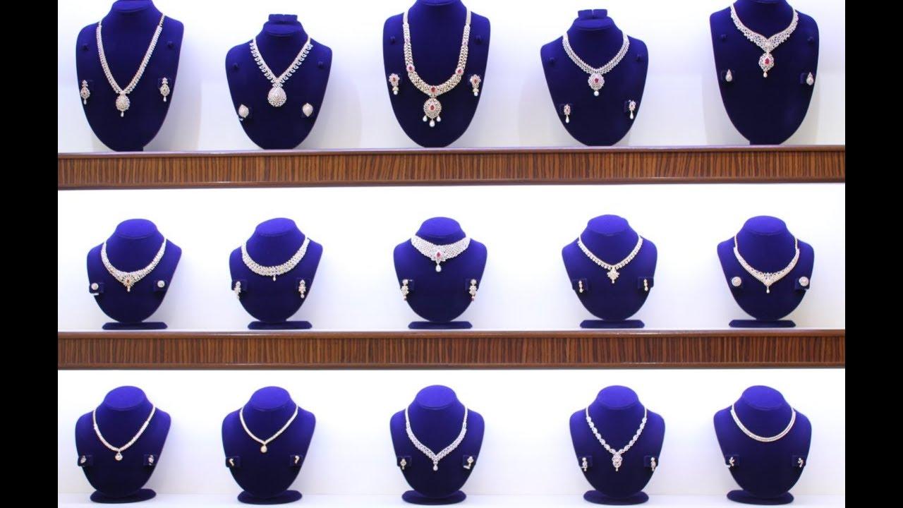 Latest joyalukkas diamond necklace collections youtube latest joyalukkas diamond necklace collections mozeypictures Images