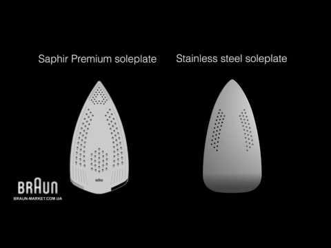 Утюг Braun TexStyle 7 с подошвой Saphir - видео обзор