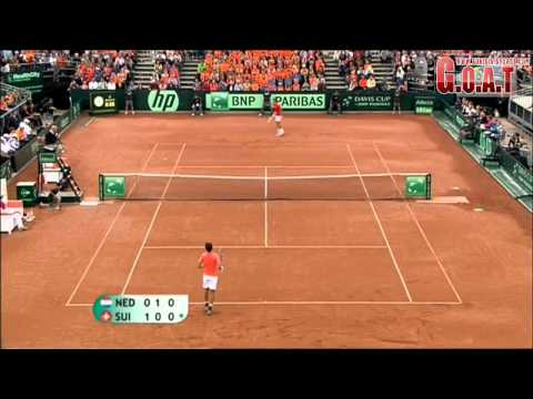 Thumbnail: Roger Federer vs Robin Haase Full Highlights Davis Cup (HD)