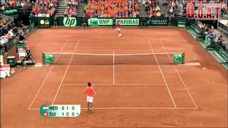 Roger Federer vs Robin Haase Full Highlights Davis Cup (HD)