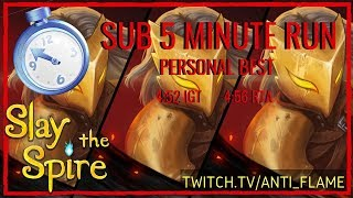 Slay the Spire Speedrun - 4:56 Unseeded Any% [World #3]