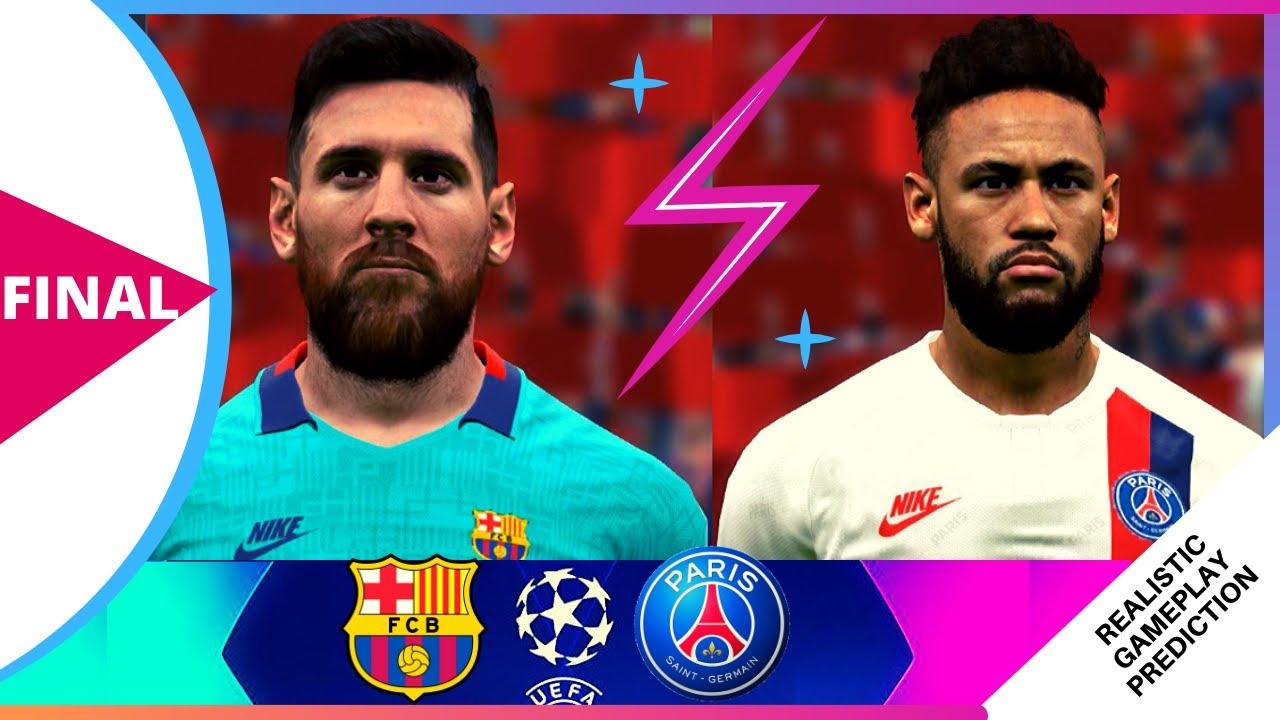 Barcelona vs PSG (Messi vs Neymar) - Final UEFA Champions ...