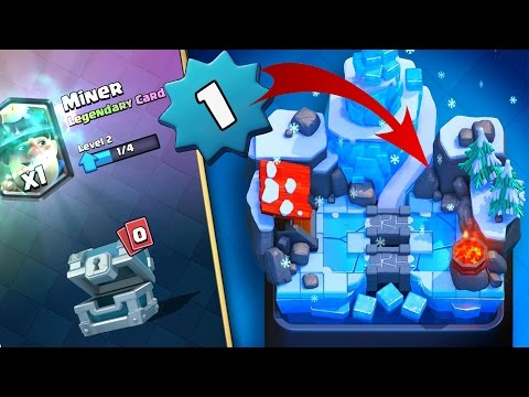 AM LUAT MINER DIN SILVER CHEST + LEVEL 1 IN ARENA 8 !!! Clas