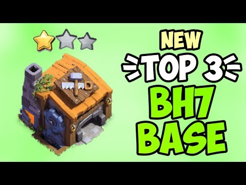 TOP 3 BEST Builder Hall 7 (BH7) Base 2019 W/Replay   Anti 2 Star BH7 Base   Base Clash Of Clans