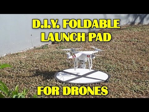 How To Make  A Portable Foldable Launch and Landing Pad for Drones