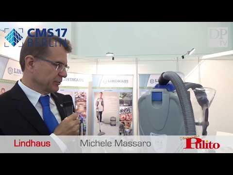 Lindhaus LB4 Superleggera Backpack Vacuum Cleaner presented at CMS Berlin 2017