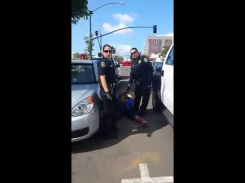Vigilant Citizen Sees Cops Hurting a Compliant Homeless Woman, So She Stepped In to Stop It