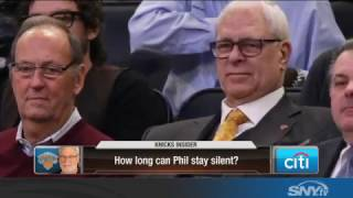 How long can Phil Jackson stay silent about Carmelo and the Knicks?