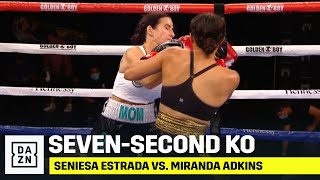 WOW! Seniesa Estrada KOs Miranda Adkins In SEVEN Seconds