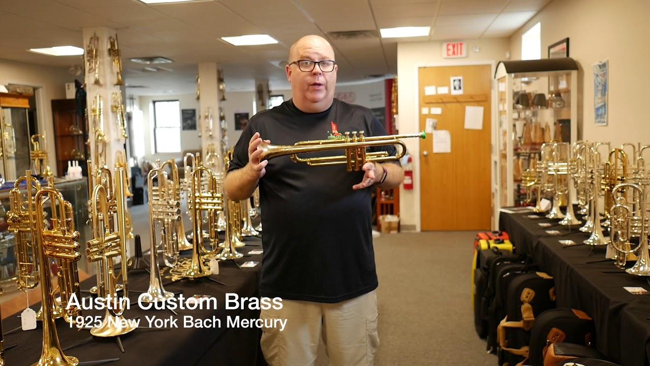 1925 new york bach mercury trumpet for sale at austin custom brass youtube. Black Bedroom Furniture Sets. Home Design Ideas