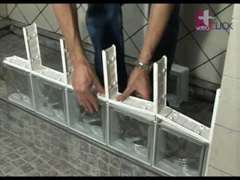 Segunda fila de bloques de vidrio vetroclick 8 de 14 youtube - Como colocar ladrillos de vidrio ...