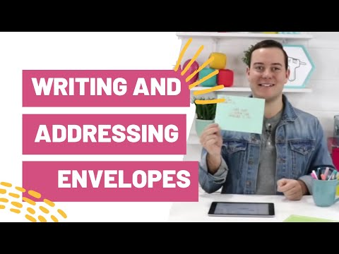 Writing And Addressing Envelopes With Your Cricut Youtube