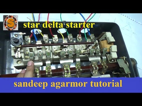 star delta starter connection
