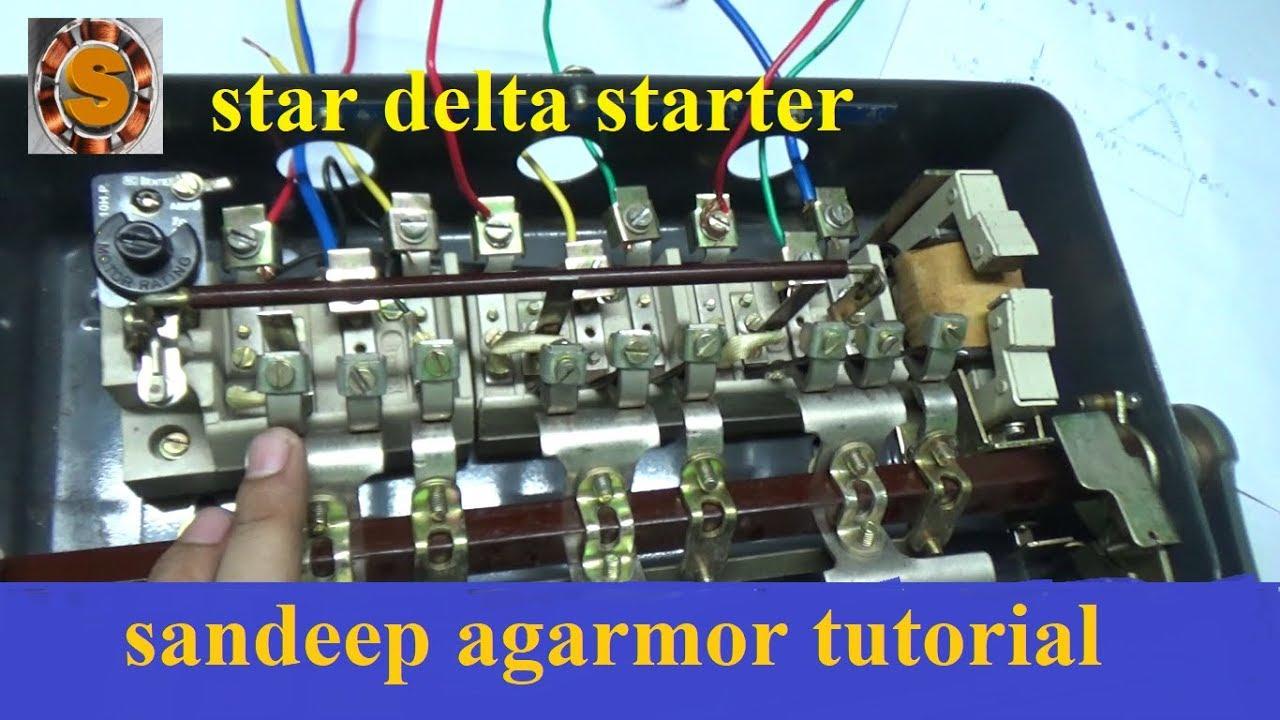 Star Delta Starter Connection Youtube