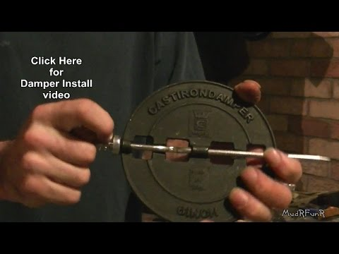 Woodstove Damper Installation Youtube