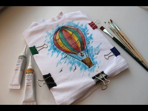 МК Роспись по ткани - Как разрисовать футболку?