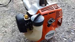 Stihl FS55 cold start  krovinorez