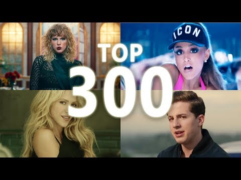 Top 300 Most Viewed Songs Of All Time (October 2017)