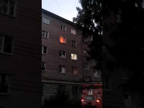 Пожар Кузнецк Кирова 95