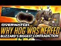 Overwatch | BLIZZARDS BIGGEST CONTRADICTION - Why Roadhog Was Nerfed