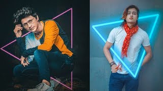 Neon Glowing Effect  - Photoshop Manipulation | Photoshop Photo Editing