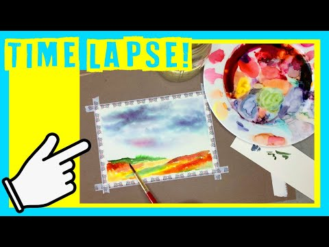 Watercolor Landscape Painting Time Lapse – Must see landscape painting!