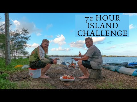 72 HOUR ISLAND CHALLENGE - Kayaking to a secluded island to live off what we catch - 14TR . EP 30