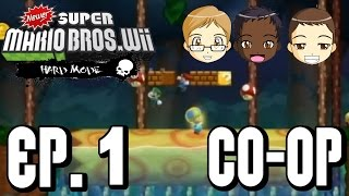 Newer Super Mario Bros. Wii - Hard Mode (Co-op) Episode 1 | It's Back...