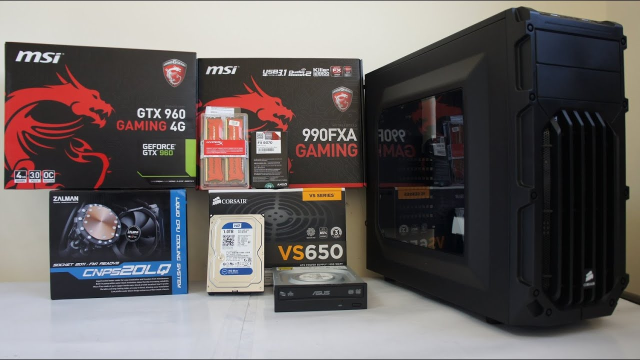 Amd Fx 9370 Gaming Pc Build Benchmark And Gta V Game Test