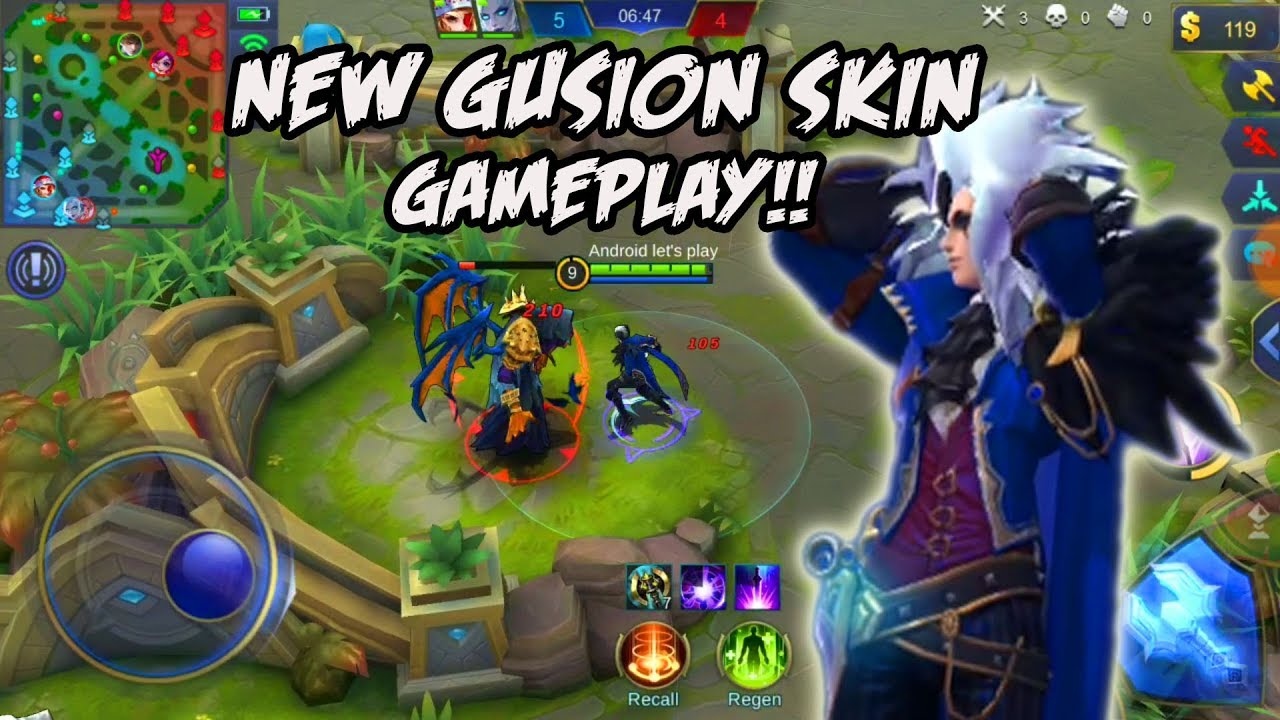 NEW SKIN GUSION HAIRSTYLIST Gameplay Mobile Legends ( New Upcoming Gusion  Skin )