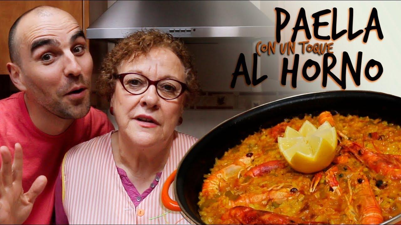 Paella Con Un Toque Al Horno Youtube