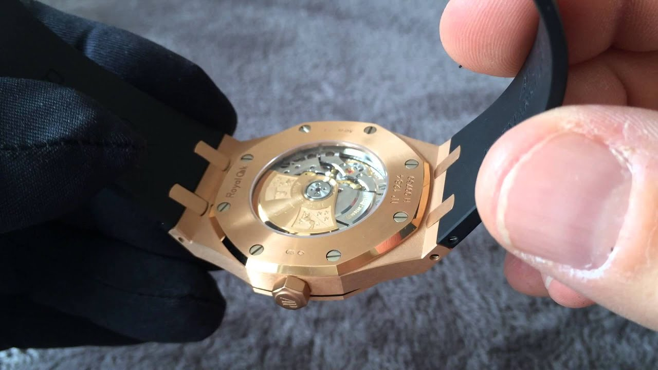 Ap 15400 Rose Gold On Rubber Youtube