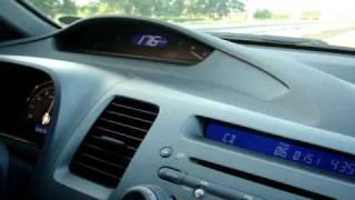 2007 CIVIC 1.8 V MANUAL RUNNING AT 176 KPH WITH TWO BLOATED TIRES