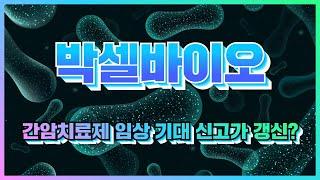 [주식] 박셀바이오(323990) 간암치료제 임상 기대…