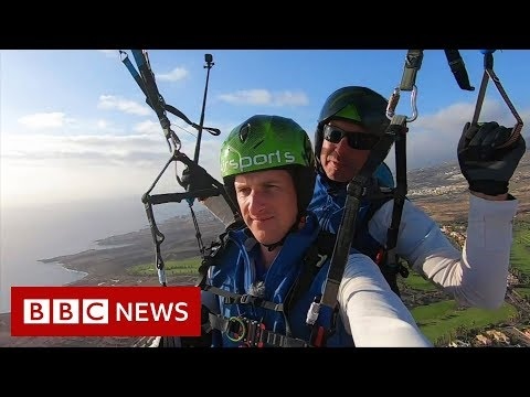 Paragliding Over Tenerife's Coronavirus-hit Hotel - BBC News