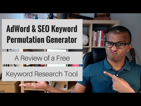 AdWord & SEO Keyword Permutation Generator Review   An Alternative Keyword Research Tool