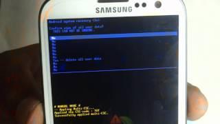 Samsung Galaxy S3 GT- I9300 Hard Reset
