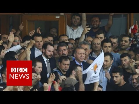 Turkey: President Recep Tayyip Erdogan denounces coup attempt - BBC News