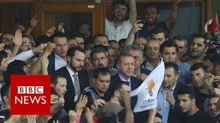 Turkey: President Recep Tayyip Erdogan denounces coup attempt - BBC News