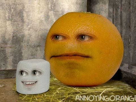 Annoying orange marshmallow sneeze
