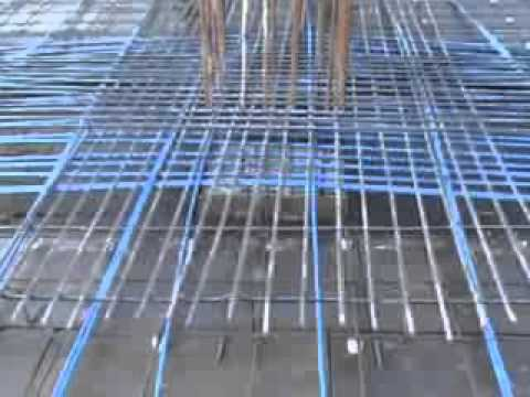 Unbounded Post tensioned concrete slab  Unbounded post