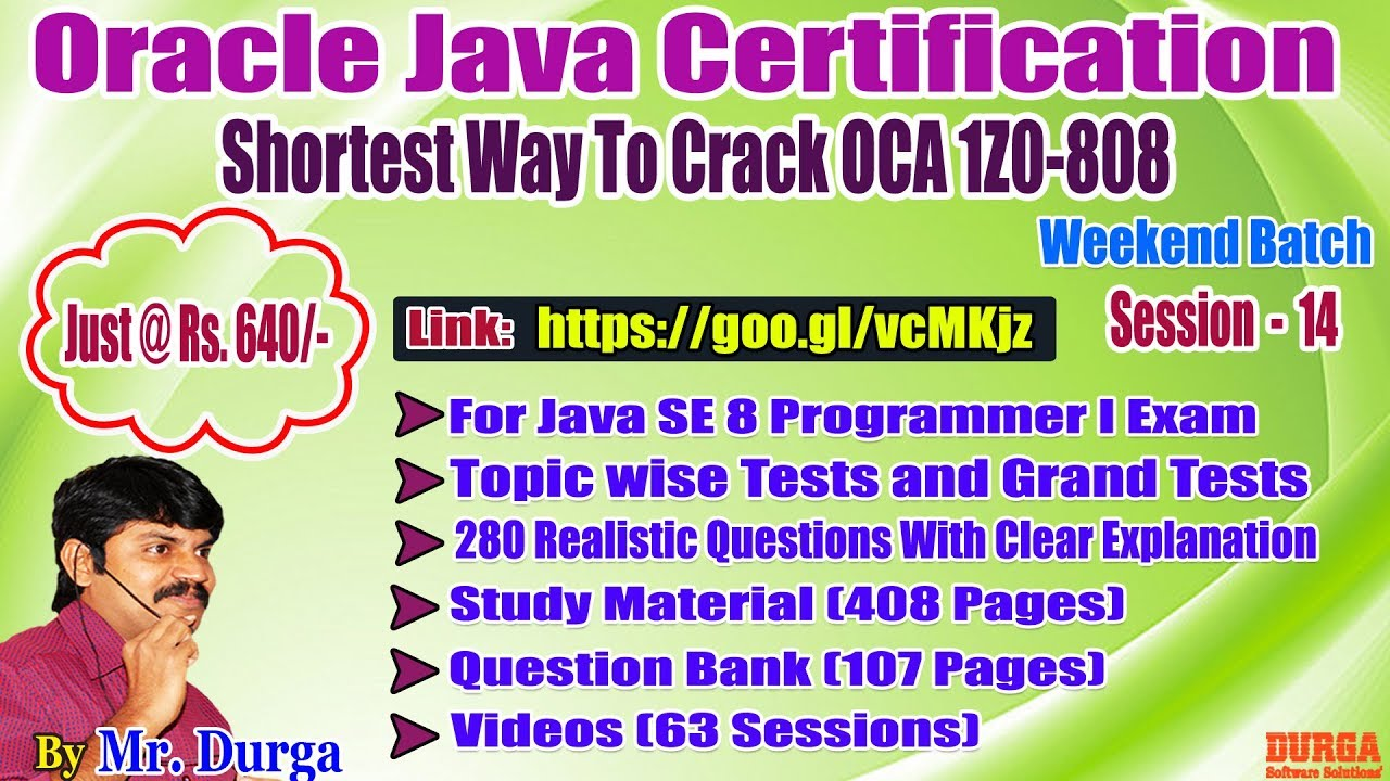 OCJA (1Z0 - 808 ) || OOPS - Constructors ||Session-14||Weekend Batch  ||Durga On 24-06-2018