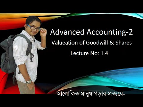 Advanced Accounting 2 Bangla, Goodwill & Shares Valuation, Lecture 1.4