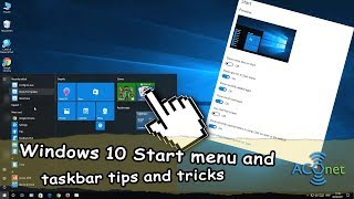 Windows 10 Start menu and taskbar tips and tricks