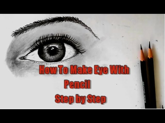 How to draw eyes with pencil step by step