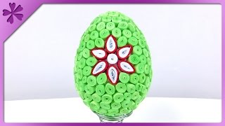 DIY Quilling Easter egg (ENG Subtitles) - Speed up #189