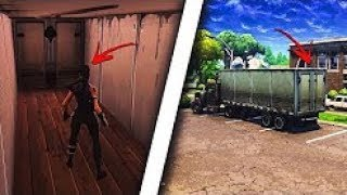 How to enter THE INSIDE OF ANY CAMION in Fortnite! Get in the trucks! Fortnite Glitch